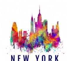 旅行 彩绘 都市 建筑 纽约