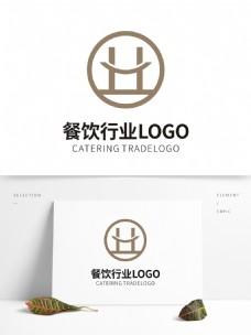 笑容H餐饮行业LOGO