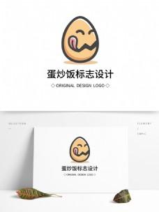 原创蛋炒饭标志设计