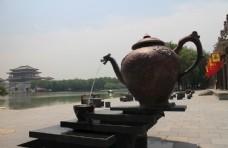茶壶雕塑喷泉