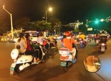 三亚 街道 摩托车