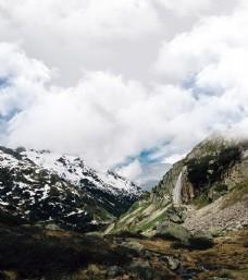 欧洲雪山山峰山顶景色
