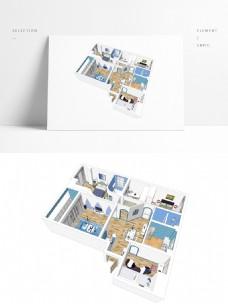 地中海风格住宅SU透视模型