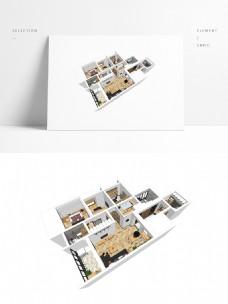简约风住宅设计SU透视模型