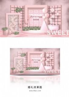 粉色ins风格小清新简约系婚礼
