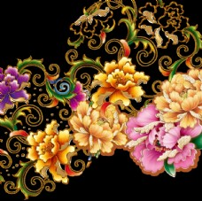 传统花牡丹免抠