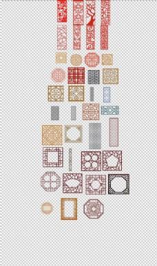 窗户花纹边框中国镂空花纹边框