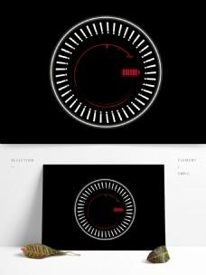 科技感圆形充电图案