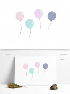 卡通清新几个彩色气球设计