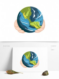 地球卡通装饰图案