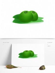 手绘绿色青团糕设计元素