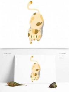 呆萌黄色花纹猫咪
