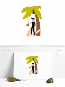夏日遮阳卡通装饰图案