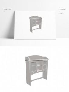 简欧摆柜3d模型