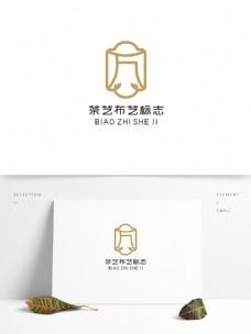 茶艺布艺标志设计