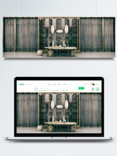 原创3D古风茶艺茶道中式中国风禅意背景