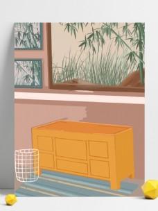 手绘室内家具装饰