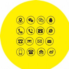 标识 电话图标