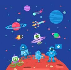 宇航员在太空