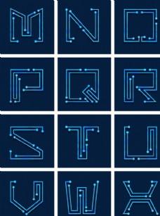 科技造型字母设计