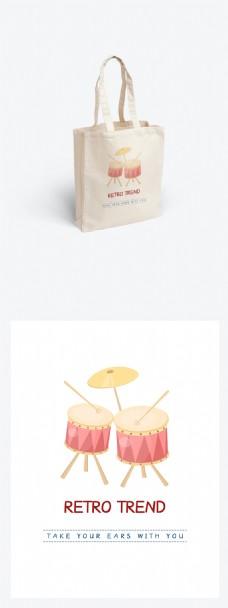 帆布包清新可爱简约包装设计