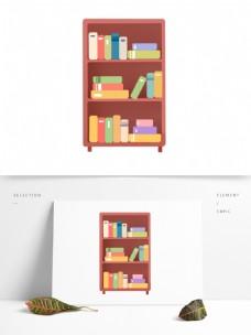 卡通书柜图案元素