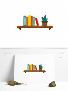 卡通书架盆栽图案