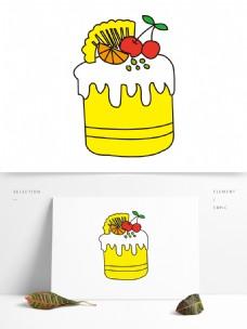 矢量卡通蛋糕图案