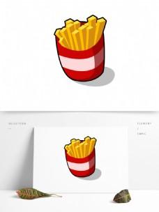 简约扁平矢量薯条