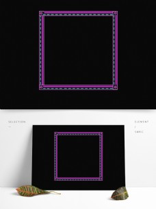 透明图层线条边框