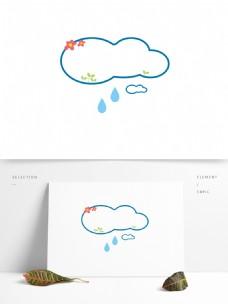 透明图层卡通云朵边框
