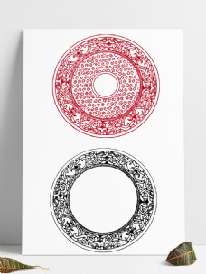 中国风花纹古典图案纹样