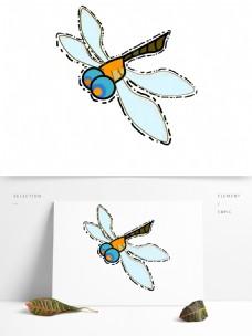 蜻蜓夏天昆虫扁平化卡通昆虫