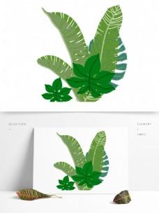 叶子北欧风植物叶子扁平化芭蕉