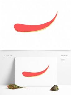 创意的红色金边形状素材