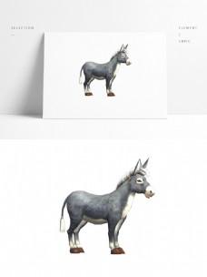 毛驴模型带贴图png白底图