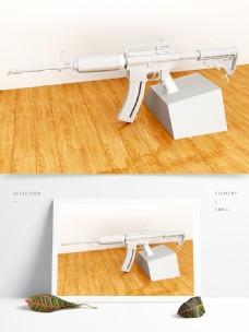 M4冲锋枪三维模型