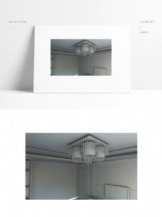 室内吊灯模型场景