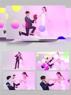 时尚简约婚礼相册Pr模板