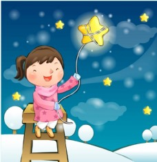摘星星的女孩  天使