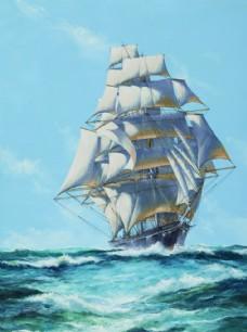 帆船 海船 一帆风顺  起航