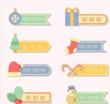 8款彩色圣诞节标签
