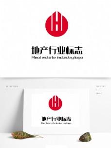 圆形红色地产logo