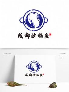 成都砂锅鱼LOGO设计