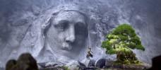 石像图片创意