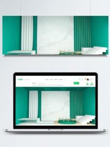 绿色的房间背景素材