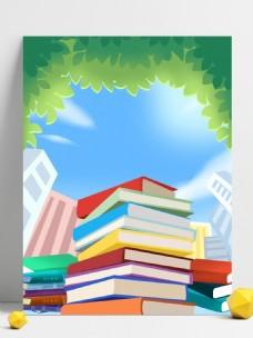 书堆绿叶奋战高考背景