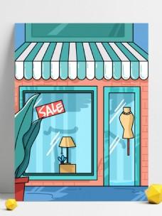 夏季女装珠宝店促销背景素材