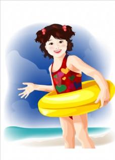 游泳圈女孩