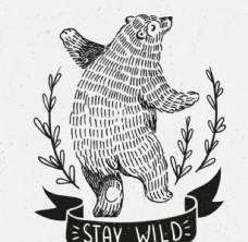 黑白北极熊